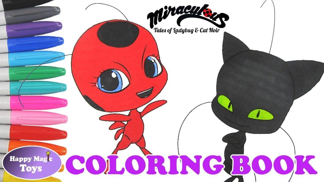 Miraculous Ladybug Kwami Tikki And Plagg Happy Magic Toys Miraculous Ladybug Anime Coloring Books Miraculous Ladybug