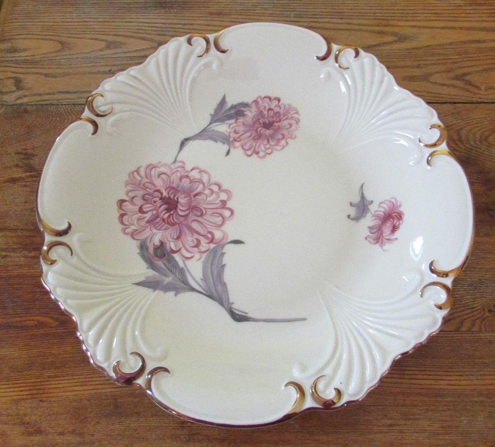 Vintage Zeh Scherzer Bavaria Porcelain Serving Platter 50 Jahre Anniversary 1930 #ZehScherzer