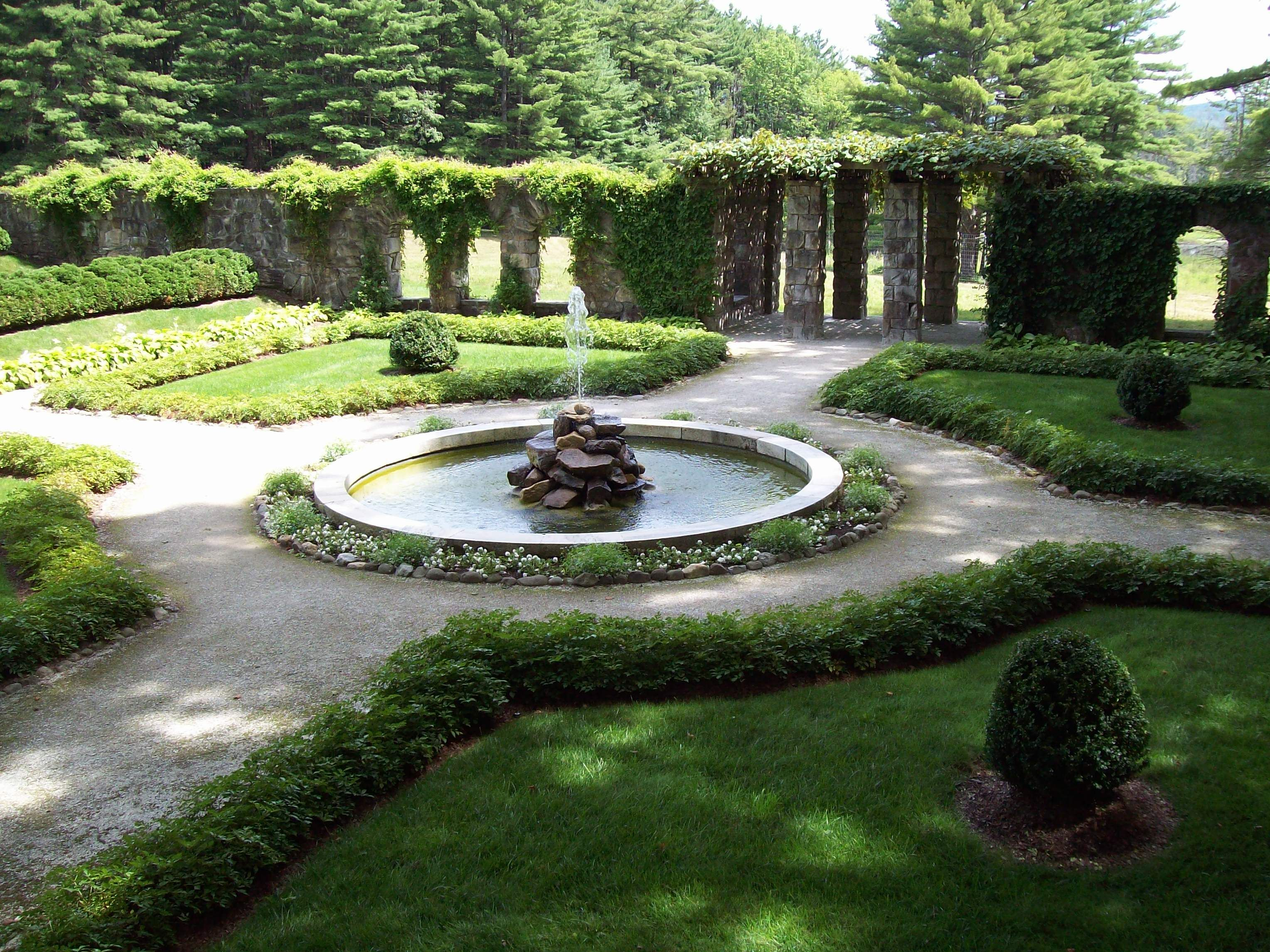 French Garden Design beautiful garden design with a gazebo statues and a waterfall How To Design A Formal French Garden Google Search