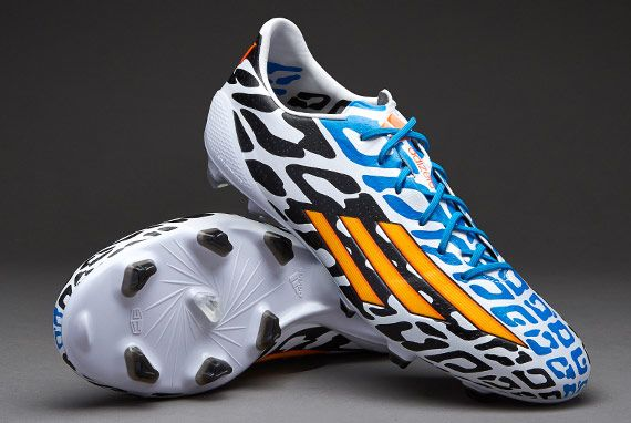 Adidas F50 Adizero Messi Fg World Cup 2014 White Neon Orange Black Adidas Soccer Shoes Soccer Shoes Messi Soccer Shoes