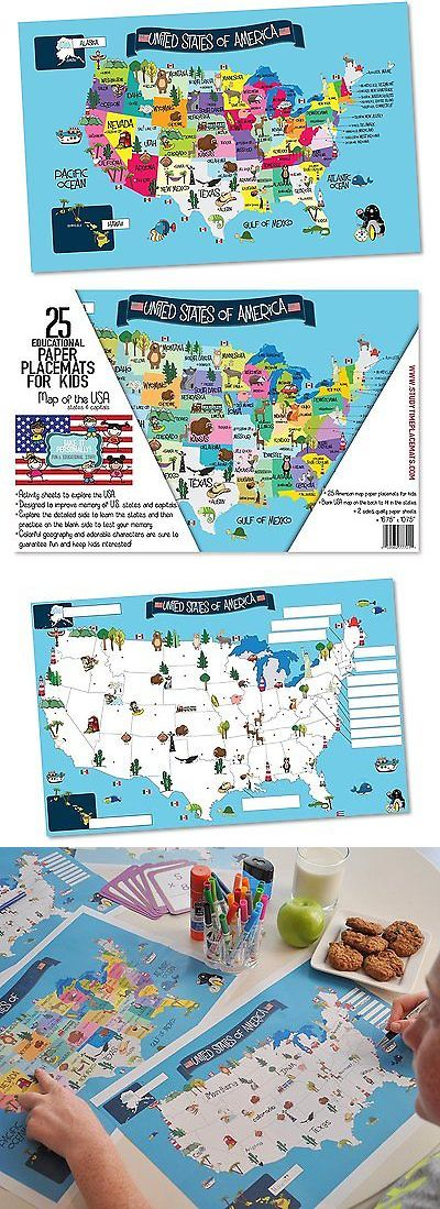 Elementary school 102956 usa map memory game and activity paper elementary school 102956 usa map memory game and activity paper placemats learn the states gumiabroncs Choice Image