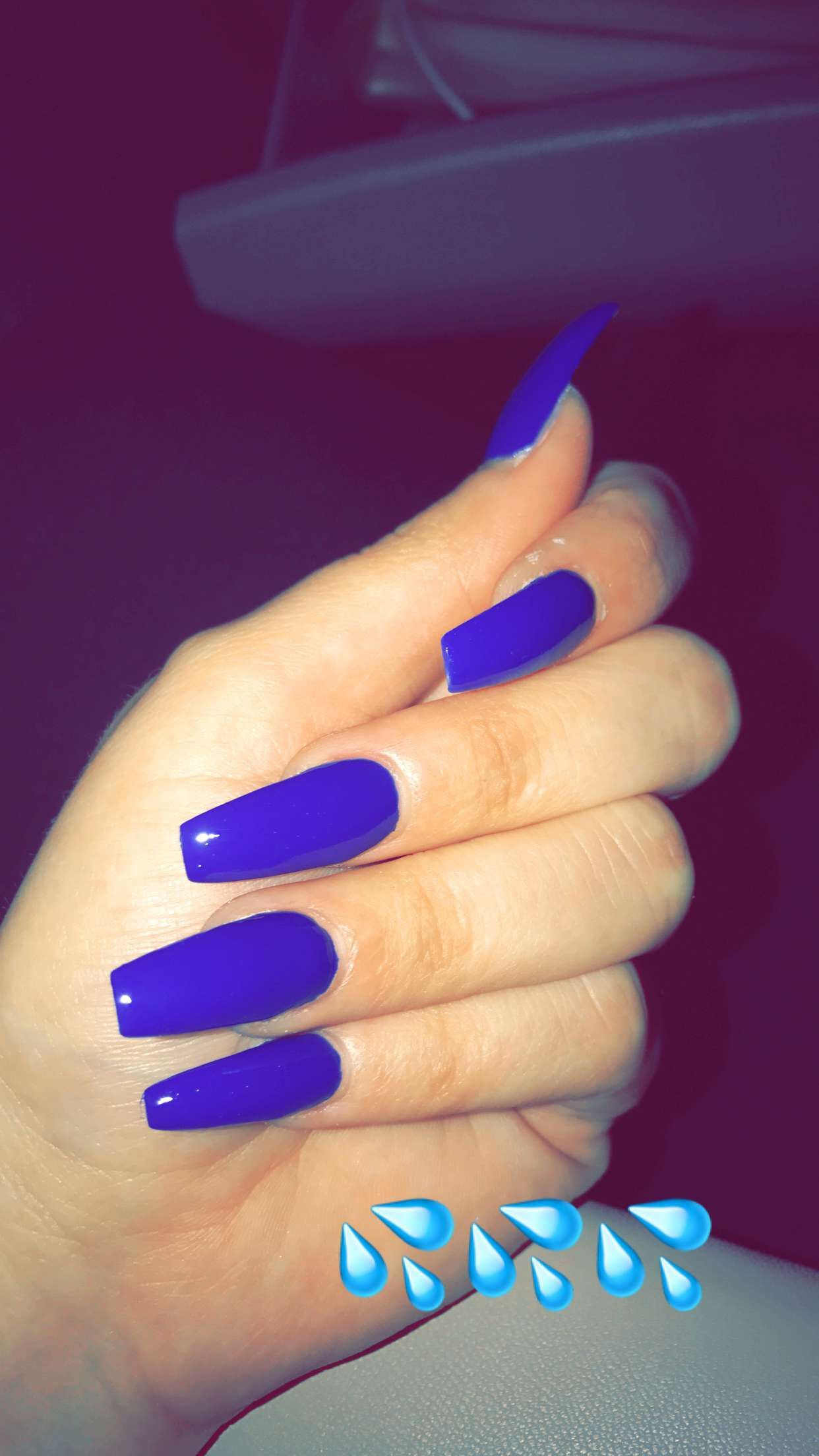 blue long nails 4. double team