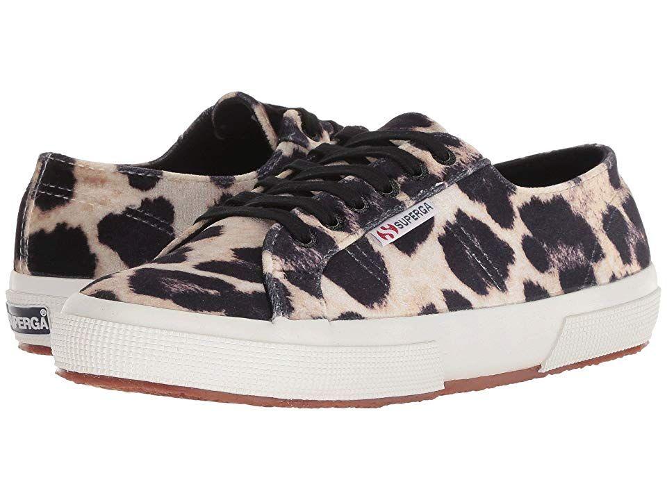 78ba9af7fdf1 Superga 2750 Fanvelw (Leopard) Women's Lace up casual Shoes. The Superga  2750 Fanvelw is the casual shoe of your dreams. Lace-up sneaker boasts a  fabric ...