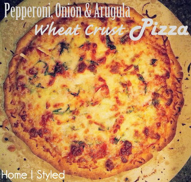 Pepperoni, Onion & Arugula Wheat Crust Pizza