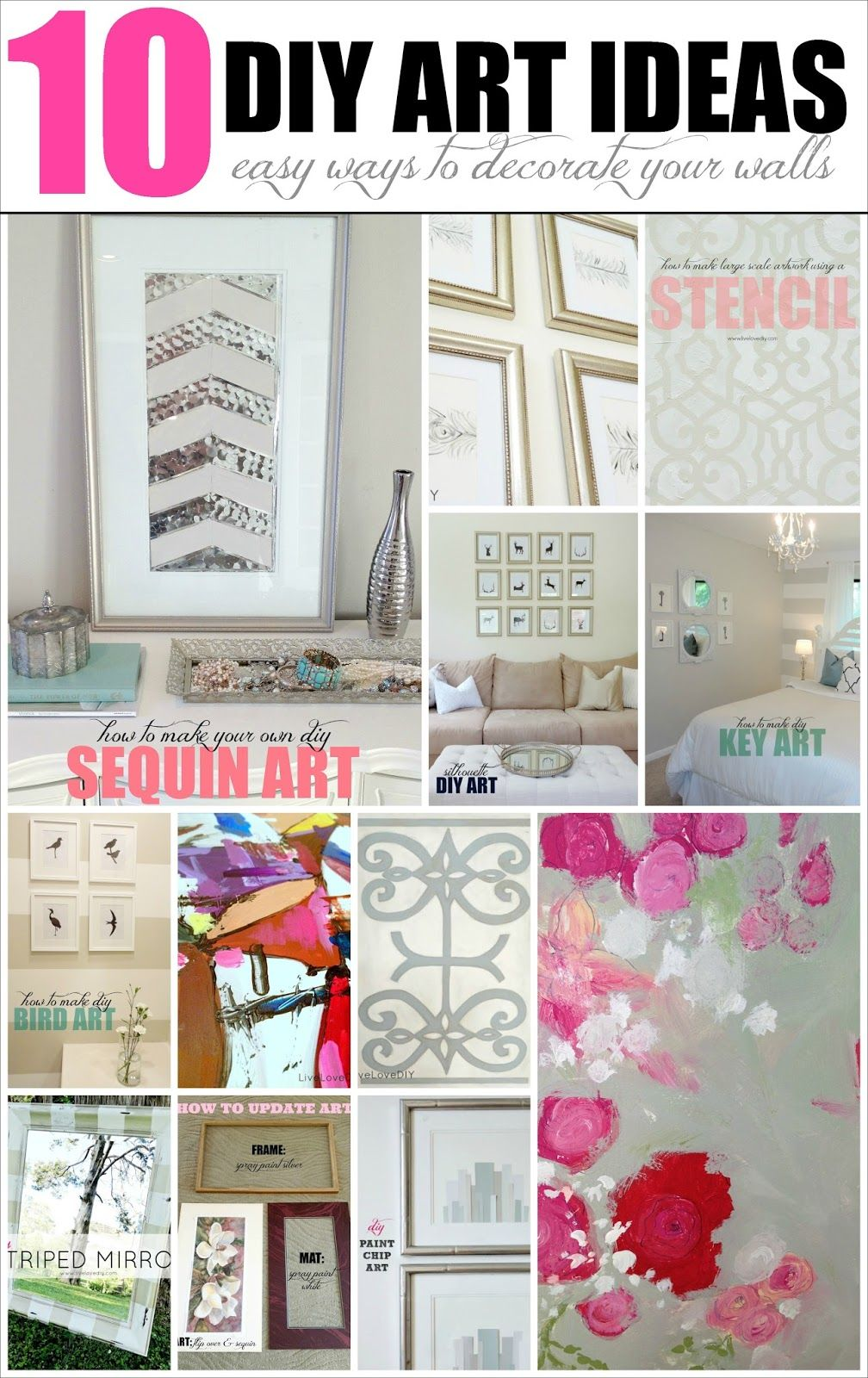 10 DIY Wall Art Ideas: easy & inexpensive ways to decorate your ...