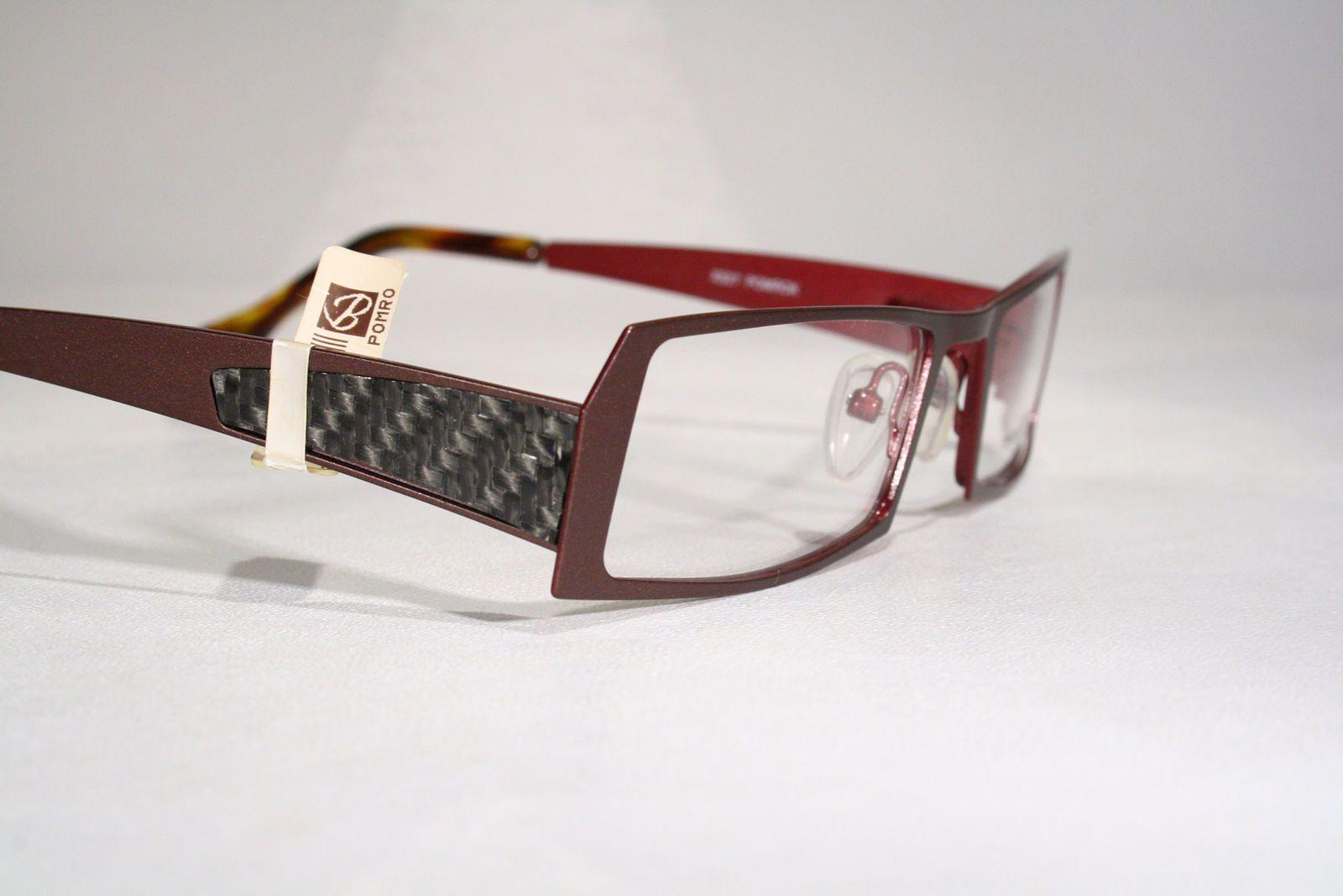 e7019371eab New TRACTION PRODUCTIONS  POMROK  Brown Eyeglass Frames Eyeglasses with  Carbon Fiber Details   eBay (RipVanW)
