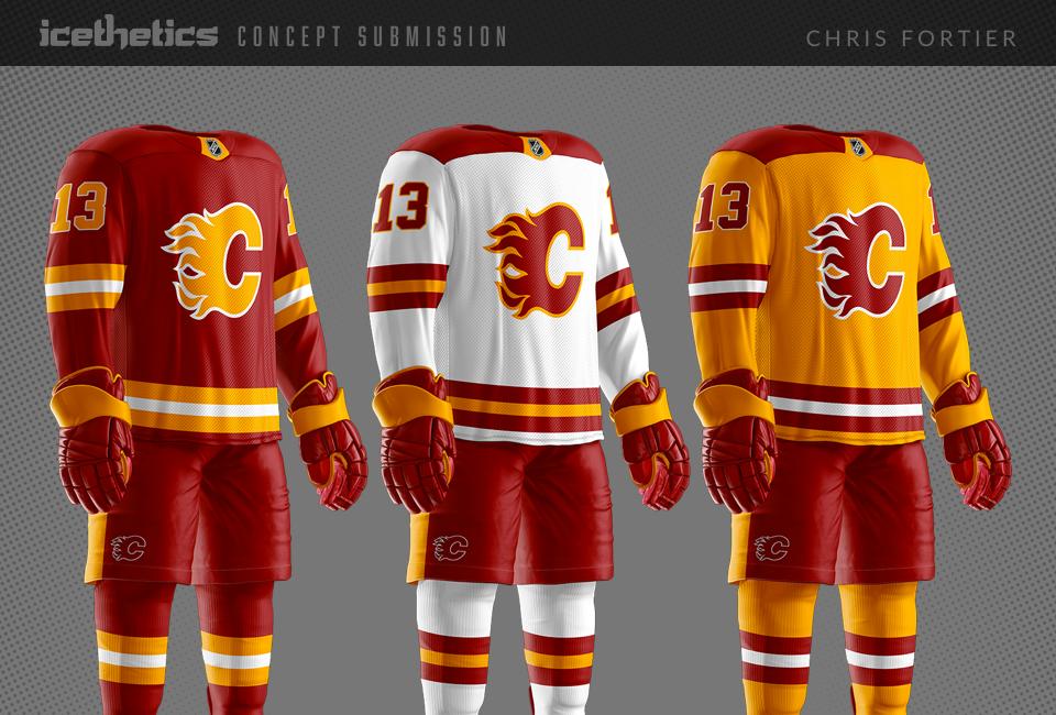 Flames Three Ways Icethetics Co Hockey Clothes Nhl Jerseys Hockey Goalie