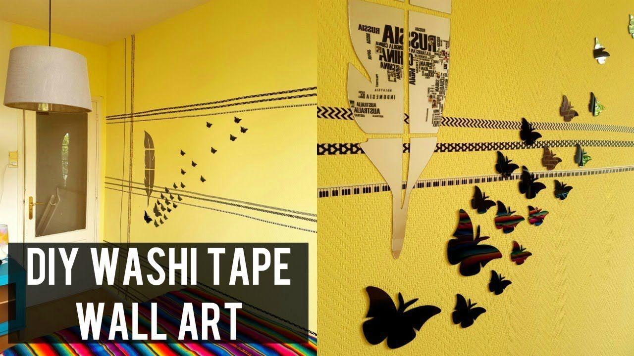 $2 DIY WASHI TAPE WALL ART   Tape wall art, Washi tape wall and Tape ...