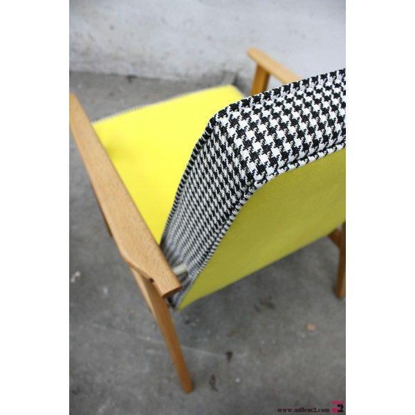Fauteuil vintage des années 60 jaune - Mille m2 | eduplex ...