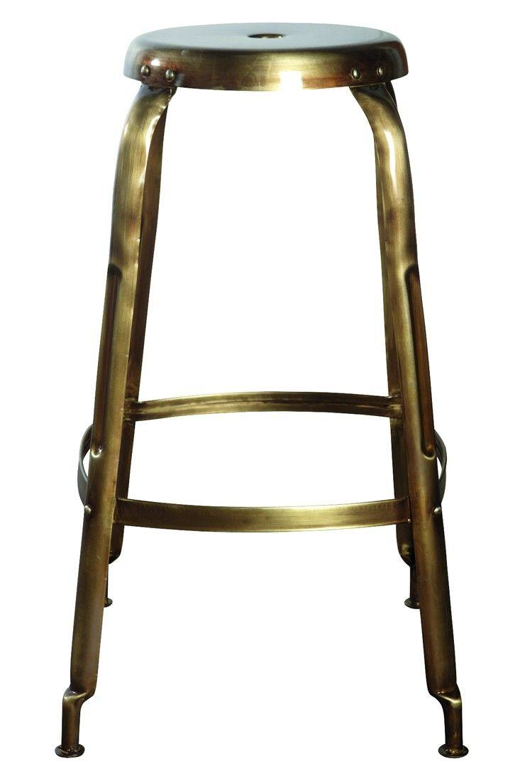 Metal Bar Stool Golden View All Furniture Ross Brown Online Designer