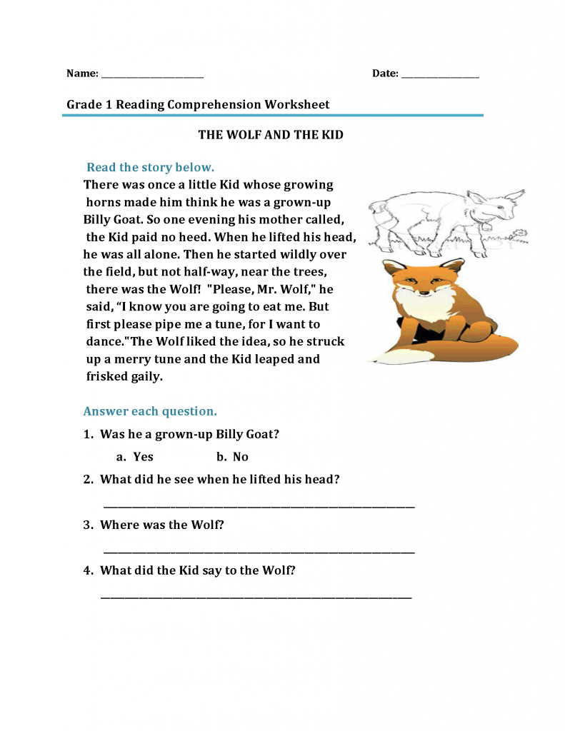 1st Grade Reading Worksheets - Best Coloring Pages For Kids   First grade  reading [ 1024 x 791 Pixel ]