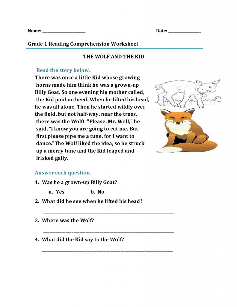 - 1st Grade Reading Worksheets 1st Grade Reading Worksheets