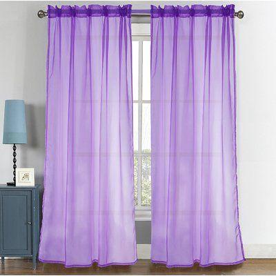 House Of Hampton Metts Sheer Rod Pocket Window Curtain Panels