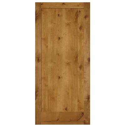 Simpson Brown 1 Panel Solid Core Wood Slab Door Common 36 In X 80 In Actual 36 In X 80 In Lowes Com In 2020 Slab Door Wood Slab Rustic Doors