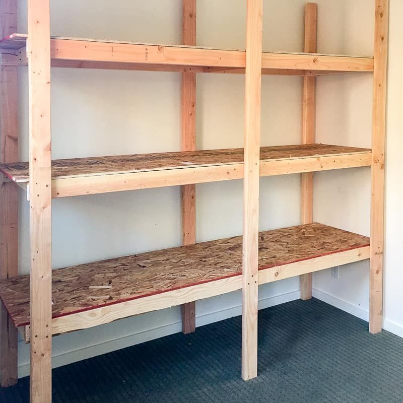 These Diy Storage Shelves Are Simple To Build And Cost Less Than 75 In Materials Download Th Diy Storage Shelves Woodworking Furniture Plans Room Storage Diy
