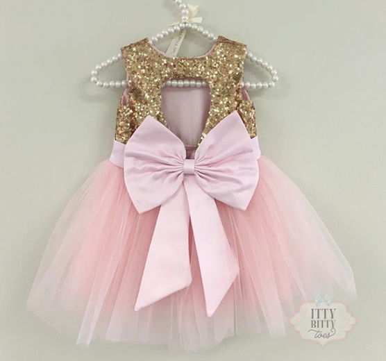 Pink And Gold Princess 1st Birthday Party Fresh Pink And: Princess Kate Dress (Gold & Pink)