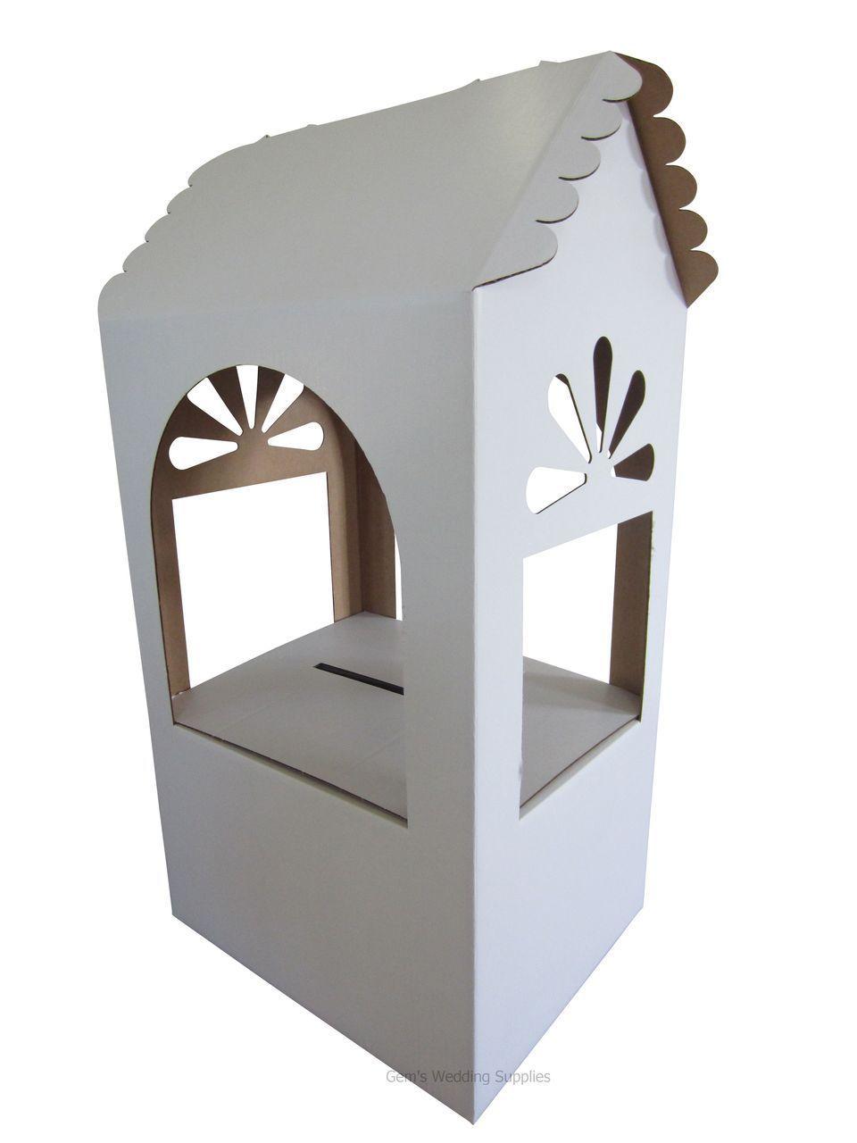 Gems Wedding Supplies - White Cardboard Wishing Well, $59.95 (http ...