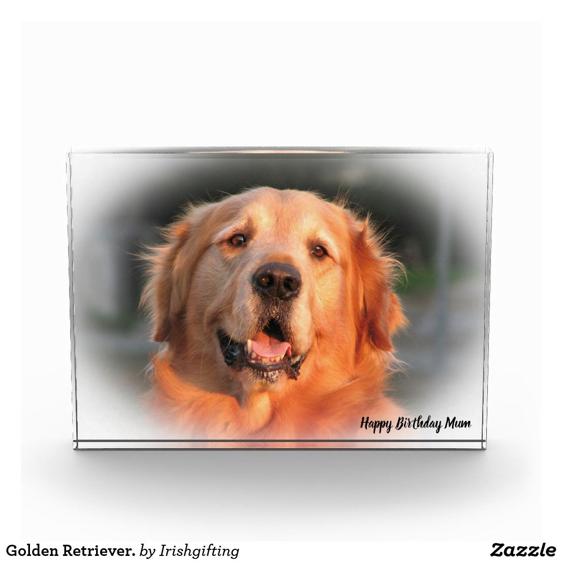 Golden Retriever Photo Block Zazzle Co Uk Golden Retriever My Pet Dog Dog Presents