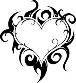 8 Pics Of Coloring Pages Hearts With Flames