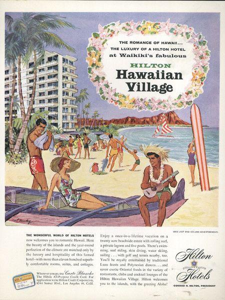 Ad For The Hilton Hawaiian Village Waikiki Beach Resort