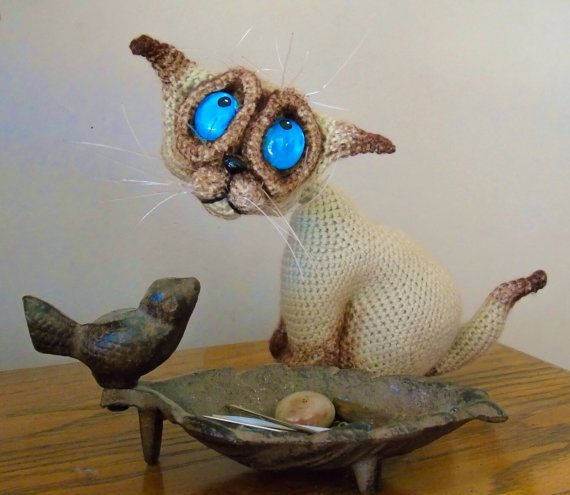 Siamese kitten * | Siamese kittens, Crochet patterns amigurumi ... | 495x570