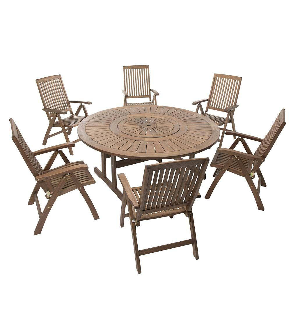 Round Starburst Table With Lazy Susan And Chairs