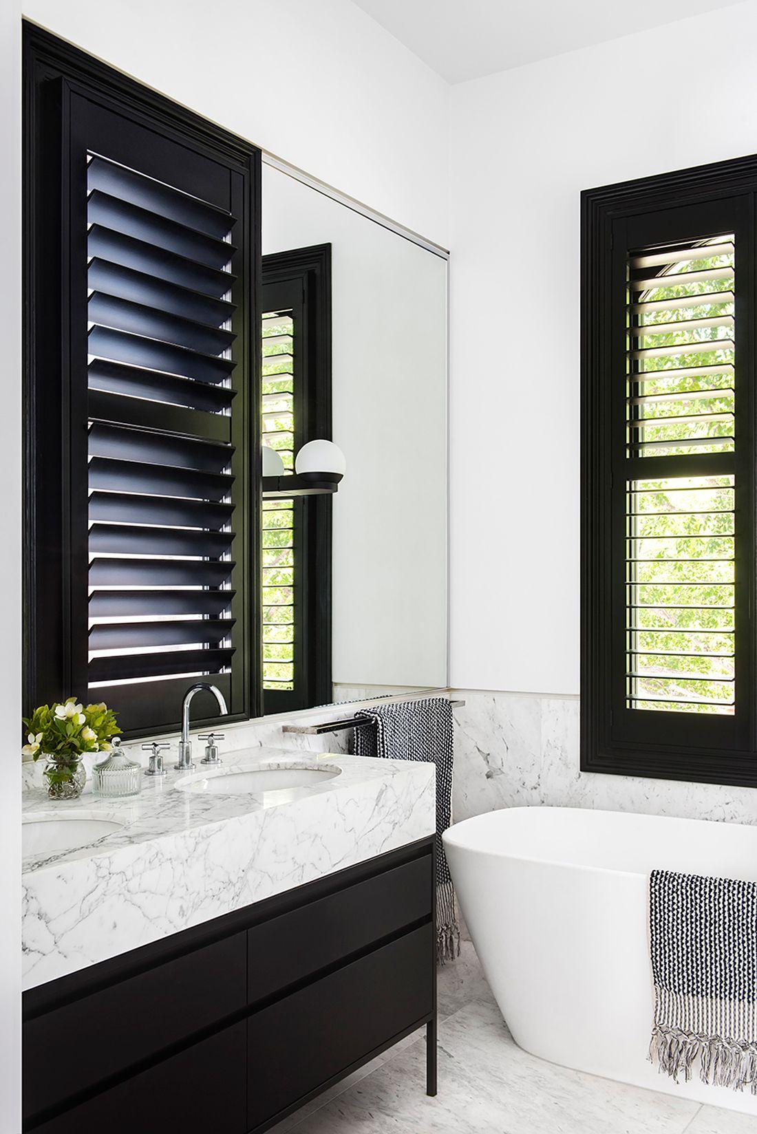 Contemporary Black White Bathroom Design Home Renovation By Sjb