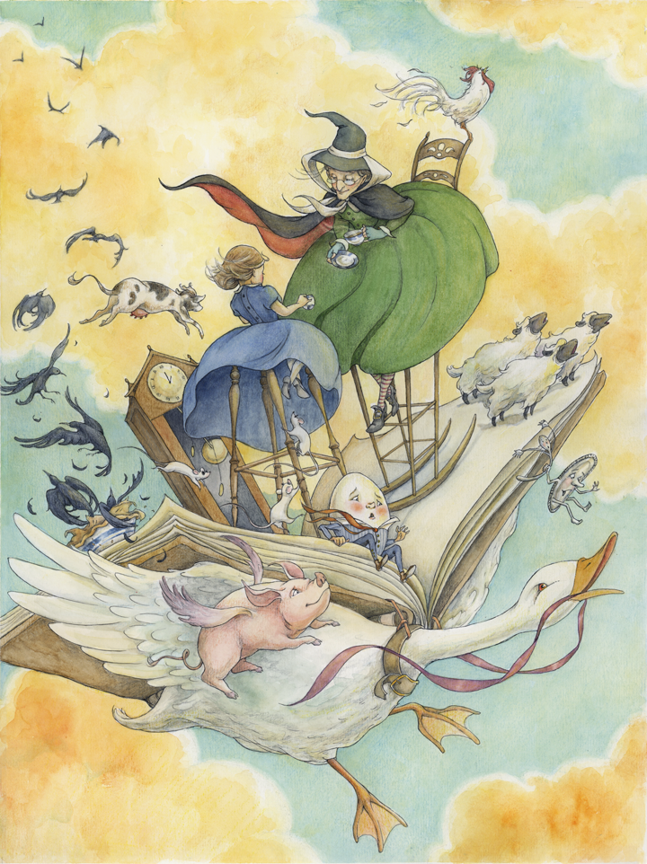 """Alice Ratterree, illustration, """"Tales from my Mother Goose"""""""