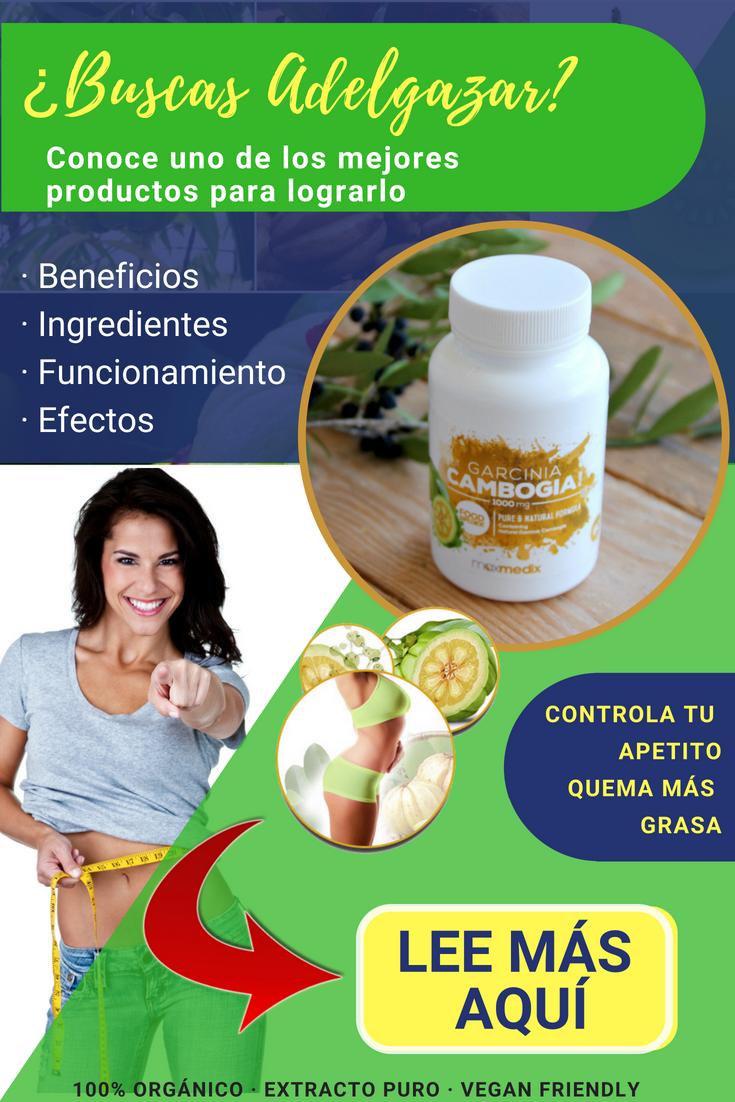 Garcinia para adelgazar efectos secundarios