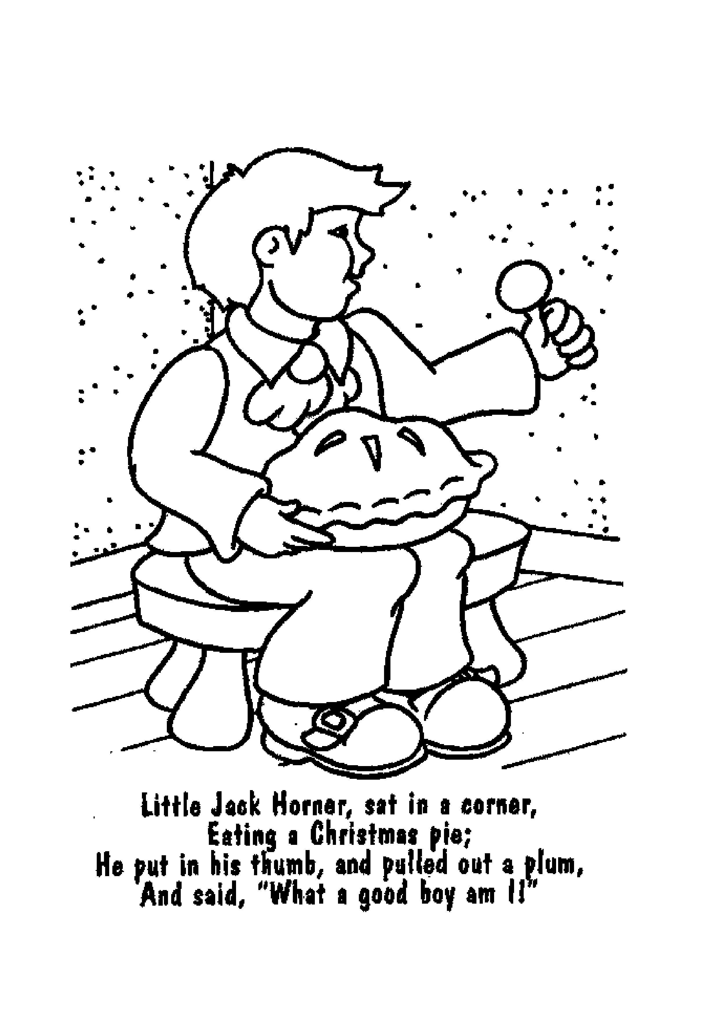 Nursery Rhymes Coloring Pages Printable Free