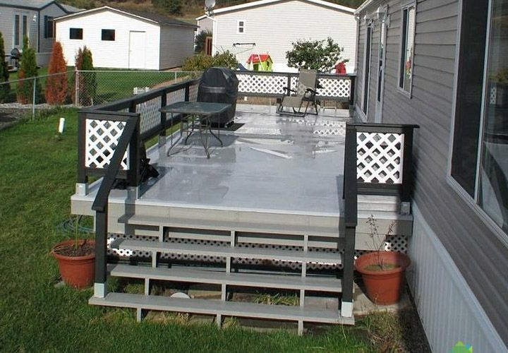Pics Of Deck Designs For Mobile Homes