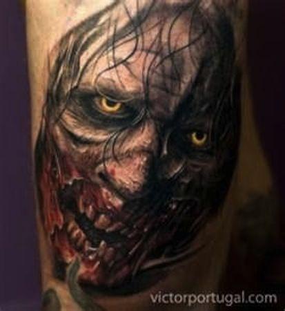 Zombie By Victor Portugal Tattoo Artist Krakow Poland