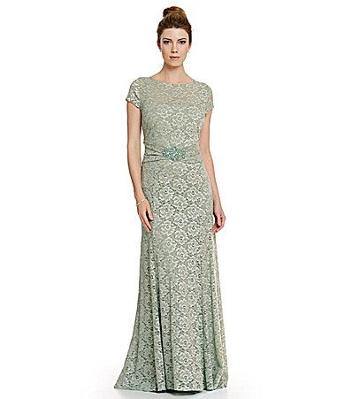 Emma Street Short Sleeve Lace Gown #Dillards | Products I Love ...