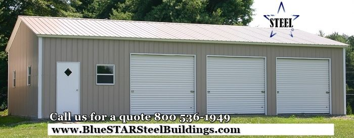 Steel Building Steel Garage Low Cost Steel Garage Call For A Quote 1 800 536 1949 Metal Garage Buildings Metal Garages Metal Garage Doors