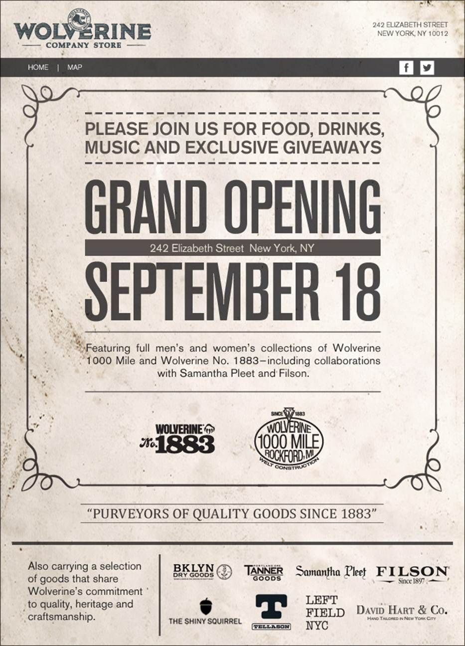 Wolverine  Mile Shop Grand Opening Flyer  Branding