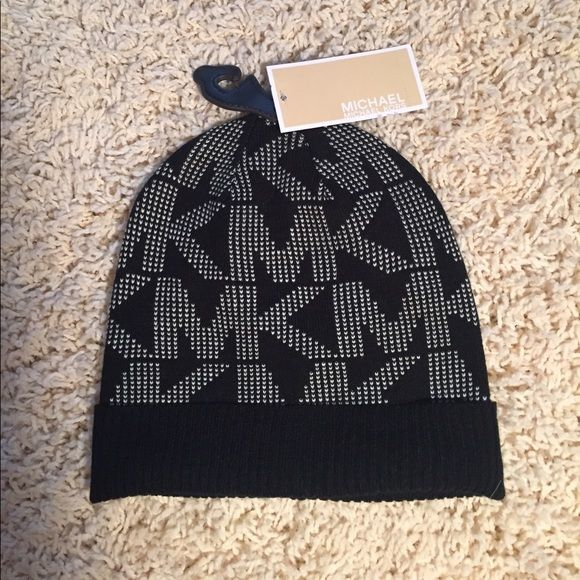 ba57fb47e3dc2 Michael Kors Hat! Brand new with tags 100% authentic Michael Kors Black and  White Hat Michael Kors Accessories Hats