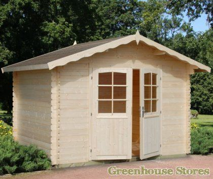 Palmako Victoria 3 Log Cabin from Greenhouse Stores with free UK home delivery.  http://www.greenhousestores.co.uk/Palmako-Victoria-3-Log-Cabin.htm
