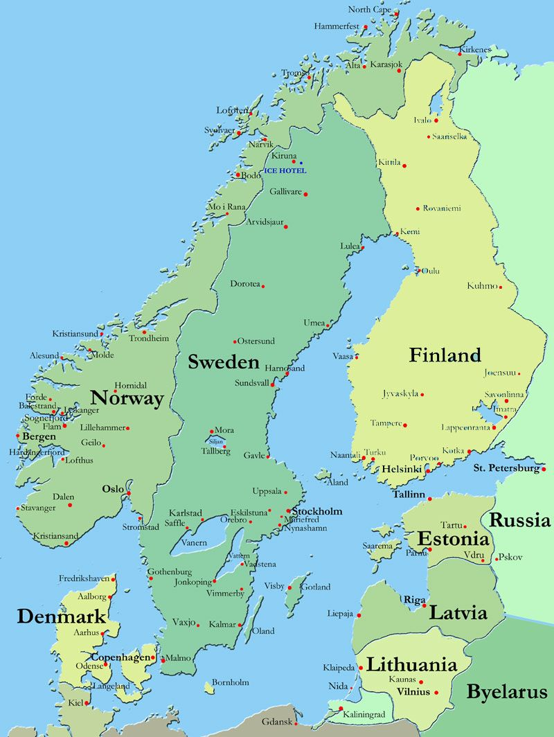 Did You Know The Nordic Countries Are Norway Sweden - Sweden map eskilstuna