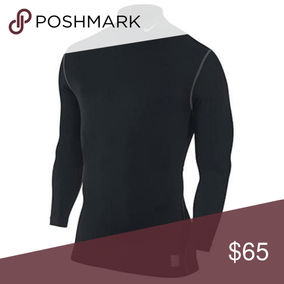 acfb3e45 Nike Mens Pro Compression Mock Long Sleeve Shirt The Nike Pro Combat  Hyperwarm Men's Compression Mock is designed to keep athletes warm, even  when it's not.