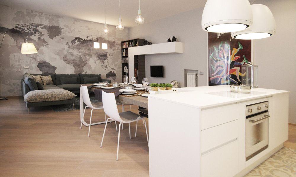 Isola con tavolo attaccato a T Cucina con isola Pinterest - led panel küche