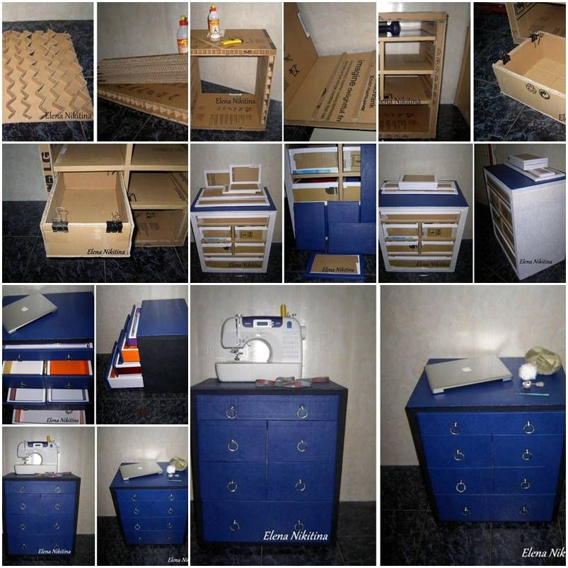 How To Make Cardboard Chest With Drawers Storage Units Step By Step Diy Tutorial Instructions Diy Cardboard Furniture Cardboard Furniture Diy Cardboard