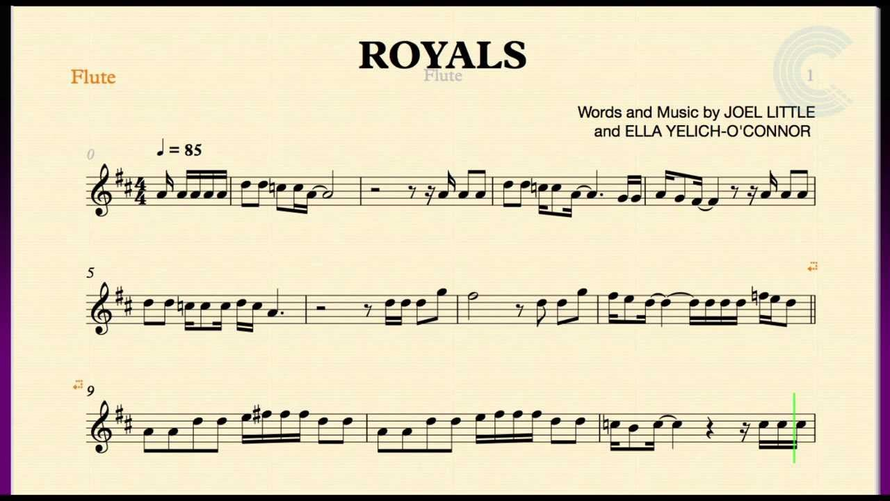 Royals lorde flute sheet music chords and vocals playlist royals lorde flute sheet music chords and vocals playlist hexwebz Images