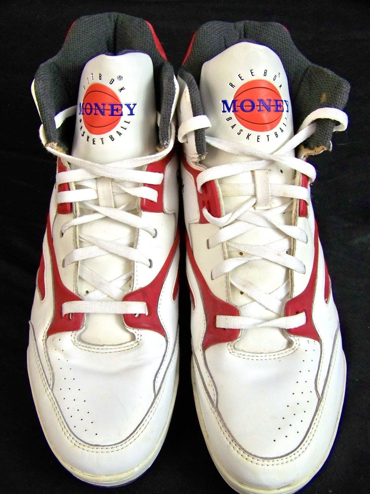 d18d47082fa Vintage Deadstock Reebok ers Money High Top Basketball Shoes Wearable Size  12