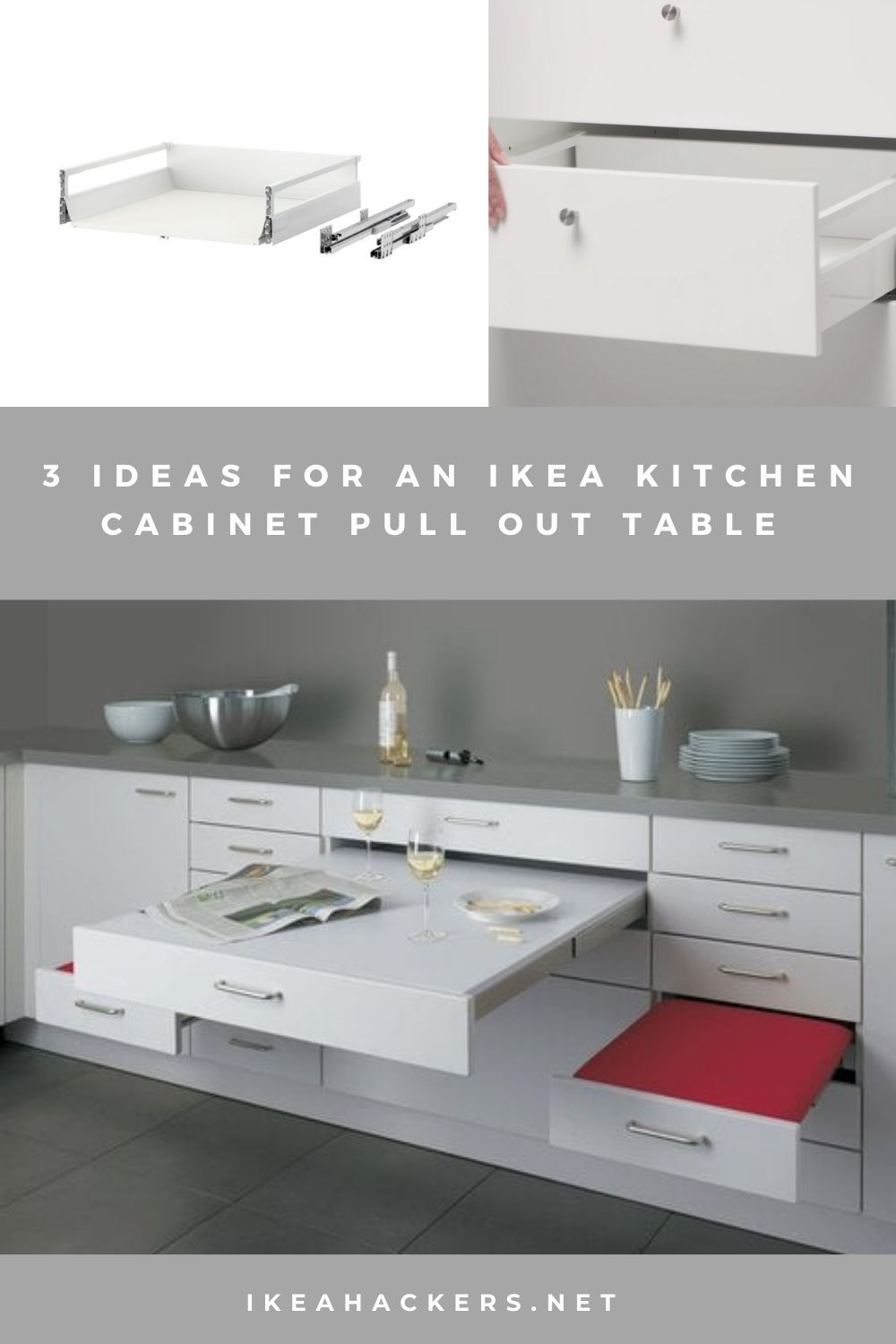 3 Ideas For A Kitchen Cabinet Pull Out Table Ikea Hackers Kitchen Cabinet Pulls Kitchen Cabinets Kitchen Concepts