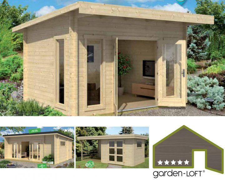 Garden loft garden office casette da giardino casetta in legno progetti pinterest - Casette da giardino moderne ...