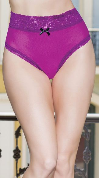 3e1388e43 Flaunt your figure in this sexy high waisted panty featuring a soft magenta  panty