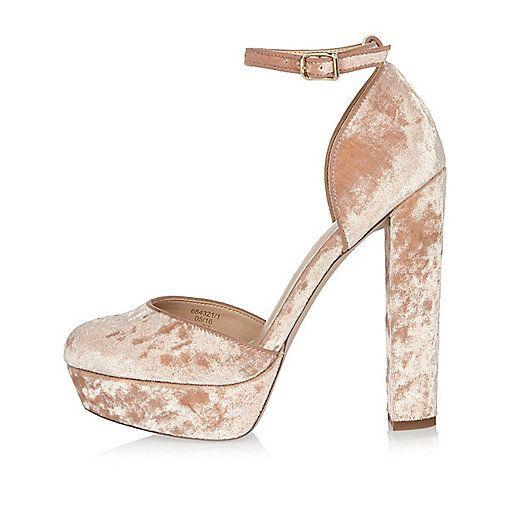 Pink velvet platform heels | Shoes, glorious shoes | Pinterest ...