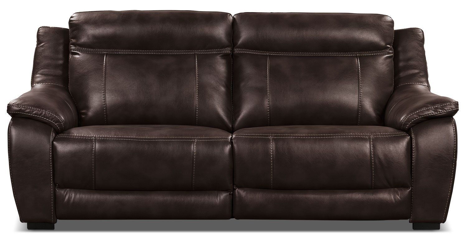 Novo Leather-Look Fabric Sofa – Brown   Recliners   Fabric ...