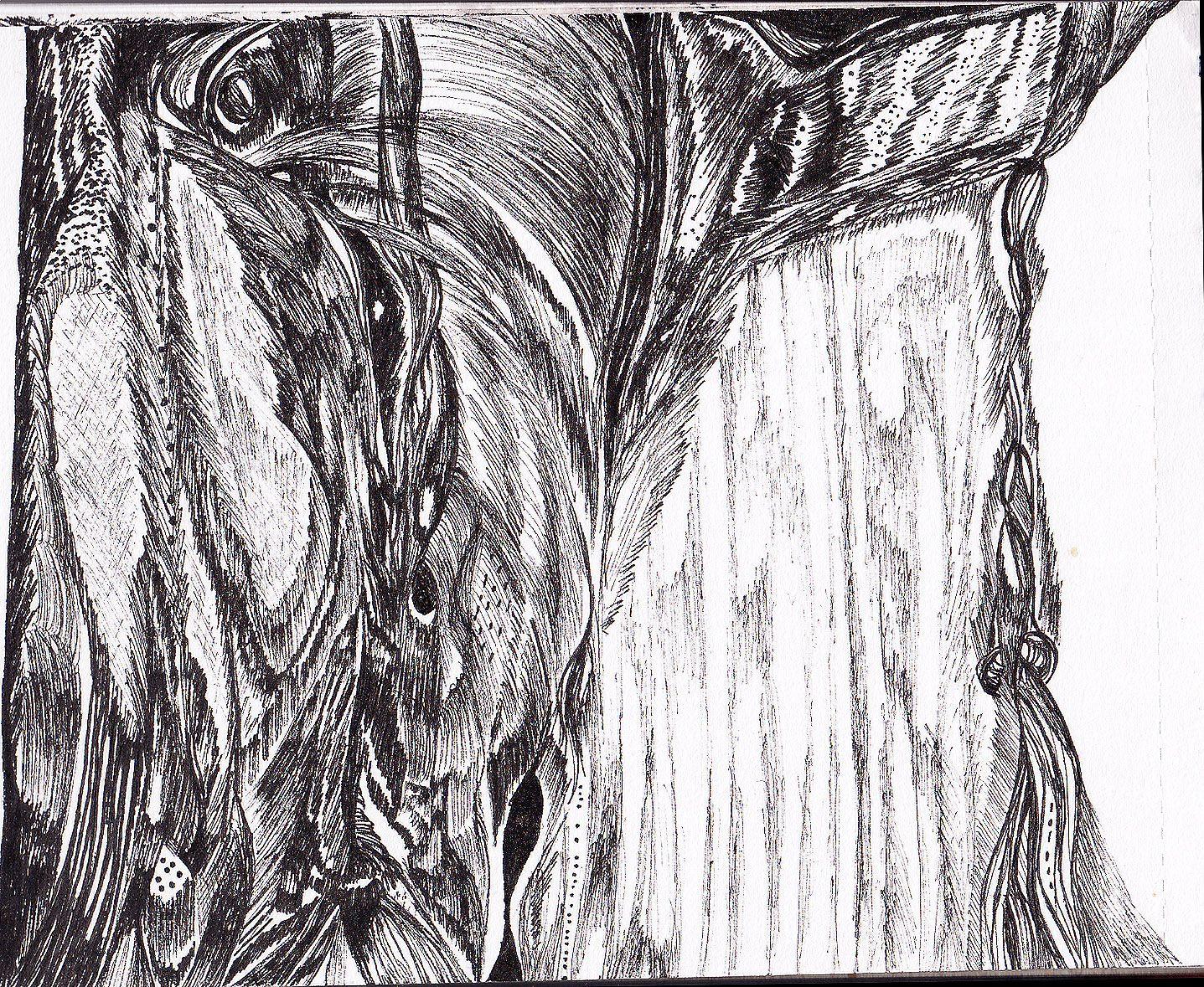 Abstract Black Pen Drawing Art Drawing Black Pen