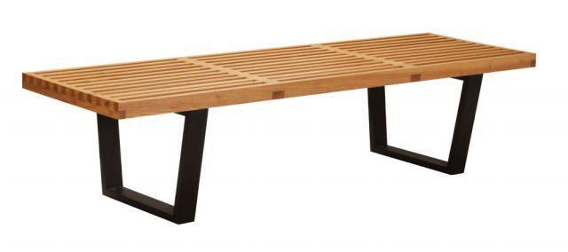 Sensational George Nelson Platform Bench Medium Replica Ash Matt Theyellowbook Wood Chair Design Ideas Theyellowbookinfo